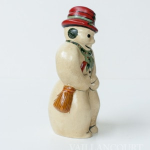 Snowman with Glitter Coal in Red, VFA Nr. 12059