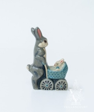 Blue Baby Carriage and Bunny, VFA Nr. 9820