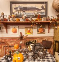 Fall Decorations at Vaillancourt Folk Art in Sutton, MA