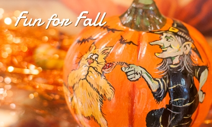 Fun Vaillancourt Chalkware For Fall and Halloween