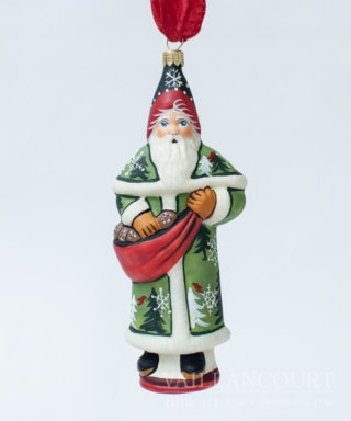 Forest Santa with Pinecones Ornament, VFA Nr. OR17402