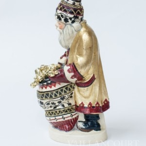 Gold Coated Father Christmas with Dark Sack of Bells, VFA Nr. 17096