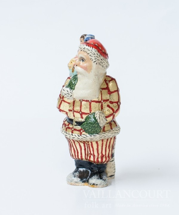 Gold Checked Santa with Sack of Toys, VFA Nr. 17064