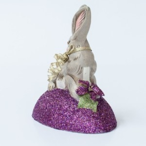 One Of A Kind Glittered Chalkware Spring Rabbit, VFA Nr. 17090