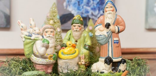 Chalkware Santa for All Seasons