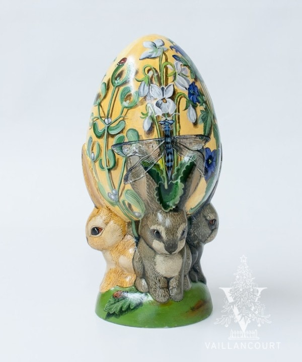 Bunnies and Garden Egg Trompe-L'œil One of a Kind, VFA Nr. 18005