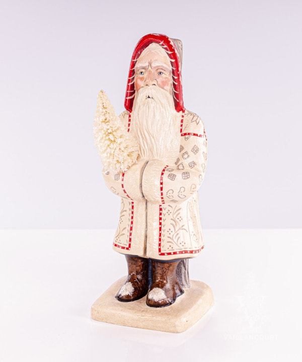 Large White Coat Father Christmas With Tree, VFA Nr. 19038
