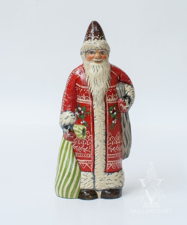 Santa in Red With White Embroidery, VFA Nr. 19041