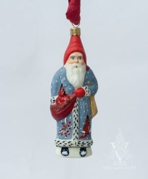 Cardinal Coat Santa Ornament, VFA Nr. OR19504