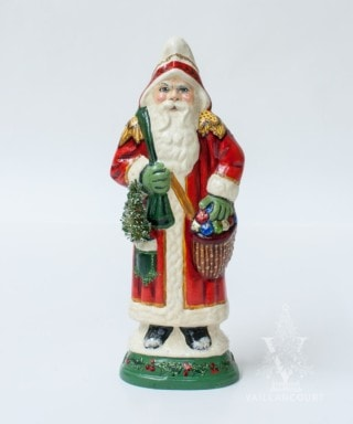 Ornate European Father Christmas with Sack and Tree, VFA Nr. 19074
